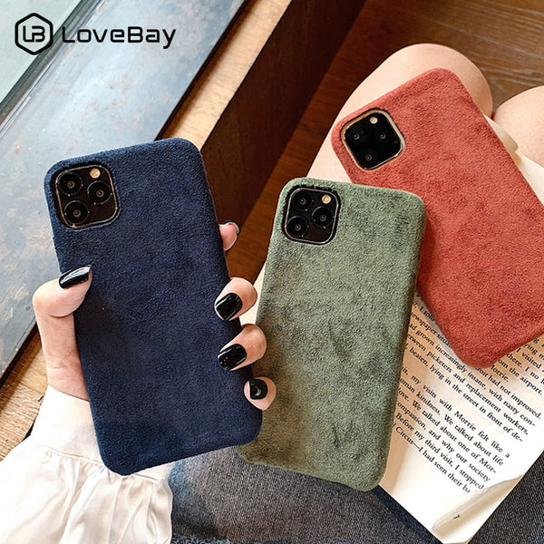 Phone Case - Furry Cloth Solid Color Shell Soft PU Back Cover For iPhone(Buy 2 Get 10% off, 3 Get 15% off Now)
