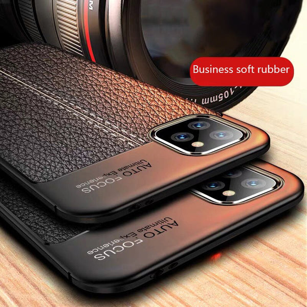Phone Case - Luxury Silicone Leather Phone Case For iPhone