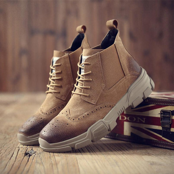 Men Shoes - 2018 New Bullock Lace-Up Ankle Shoes