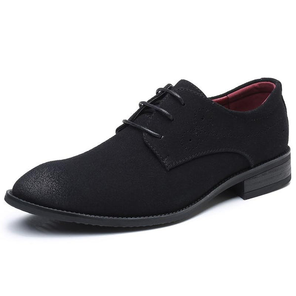 Shoes - Men Fashion Pointed Toe Lace Up  Brogue Shoes