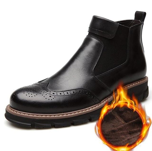 Shoes - Men's Comfortable Warm Leather Boots