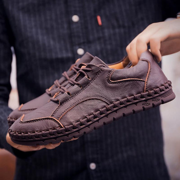 Casual Genuine Leather Moccasin Walking Shoe