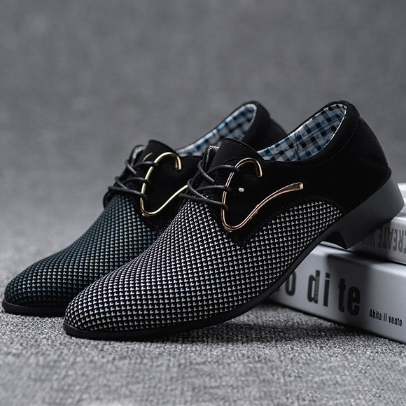 Men Shoes - New Male Business Oxford Flat Walking Driving Shoes