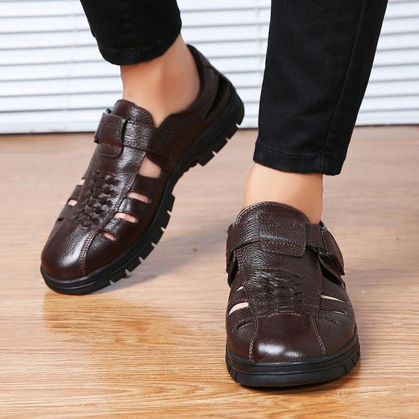 New Arrival Men Genuine Leather Soft Summer Casual Shoes