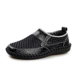 Men's Shoes - Fashion Mesh Casual Breathable Lightweight Slip-On Shoes