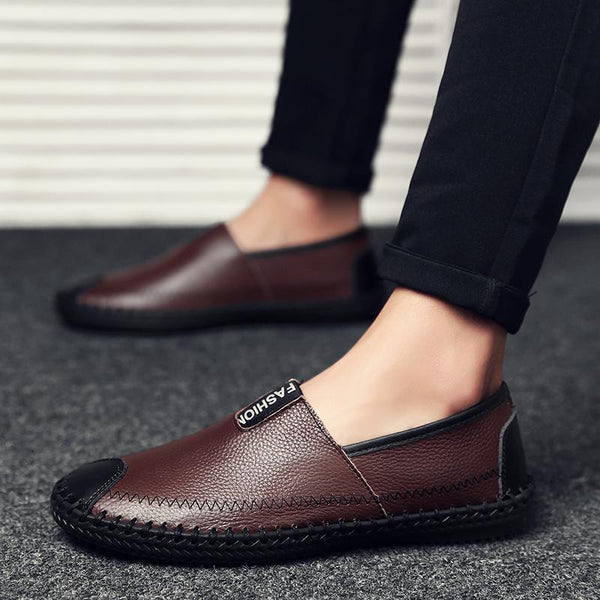 2019 New Men Handmade Leather Moccasin Loafers
