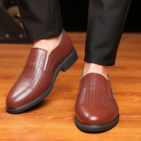 Men Casual Breathable Hollow Flats Shoes
