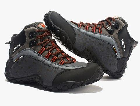 Men Solid Outdoor Hiking Safety Ankle Boots