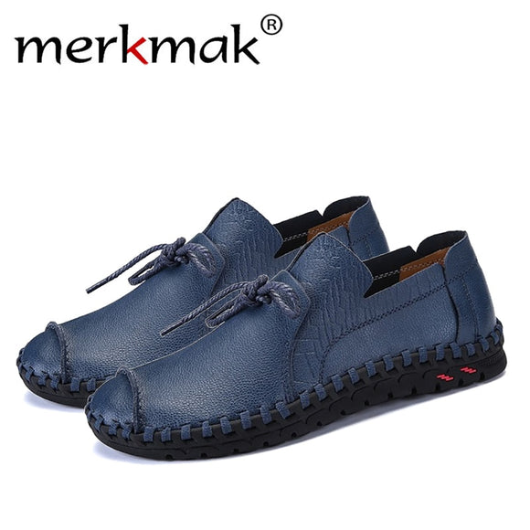 Men's Shoes - Spring Autumn Genuine Leather Slip On Men's Flats Footwear(Buy 2 Get 10% off, 3 Get 15% off Now)