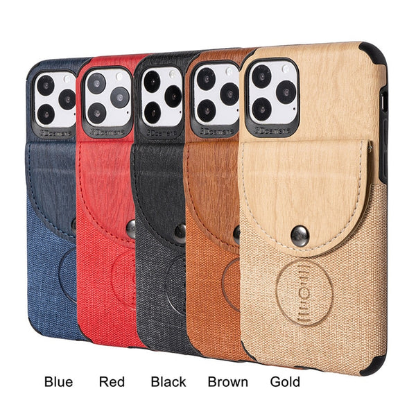 Jollmall Phone Case - Muti-function Wood Card Case
