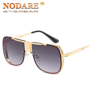 Jollmall Sunglasses - Square Metal Frame Male Sun Glasse