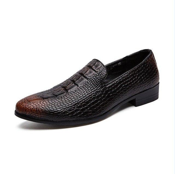 Men Shoes - Crocodile Pattern Flat Casual Spring New Men Shoes