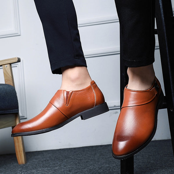 Men Shoes - large size Leather casual shoes