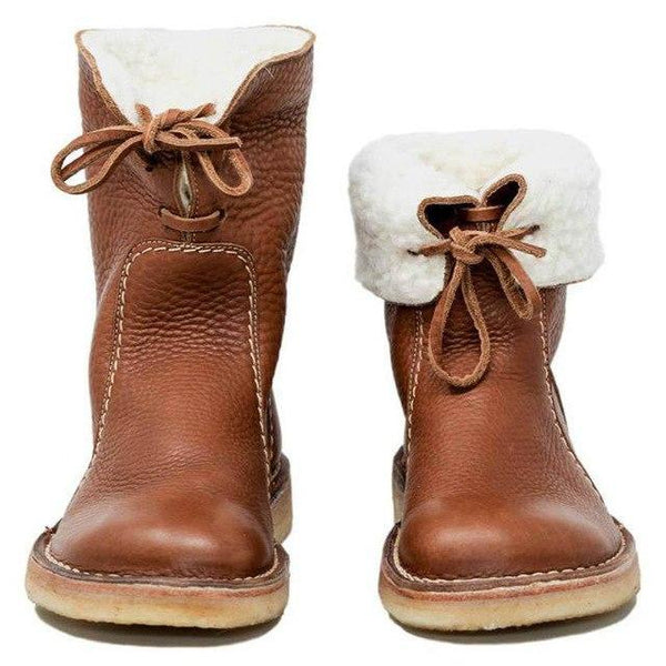 Women's Shoes -  Casual Vintage Winter Snow Fur Boots
