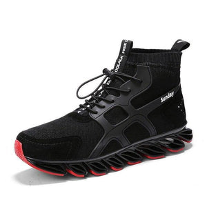 Men's Shoes - High Top Outdoor Breathable Jogging Running Shoes