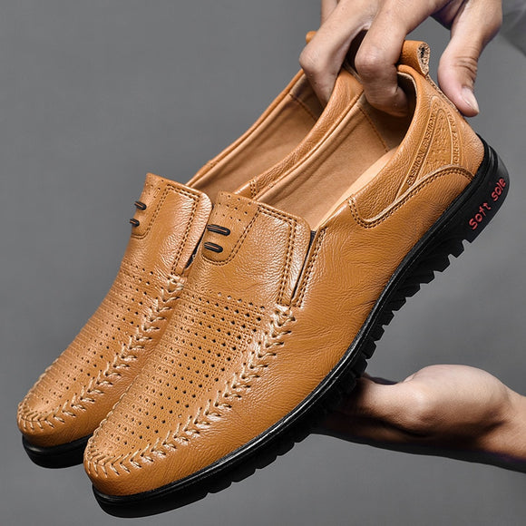 Men Shoes - Spring and autumn new leather men's shoes(Buy 2 Get 10% off, 3 Get 15% off Now)