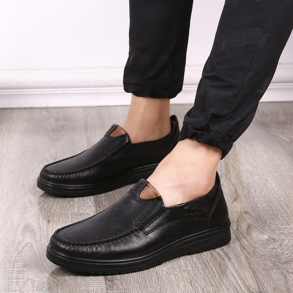 Shoes - Men's Lightweight Breathable Leather Shoes