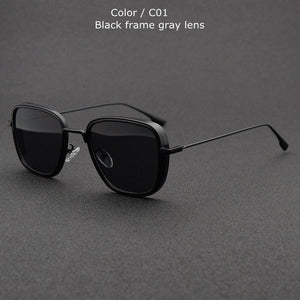 Jollmall Sunglasses - Designer Vintage Square Metal Frame Sun Glasses(Buy 2 Get 10% off, 3 Get 15% off Now)