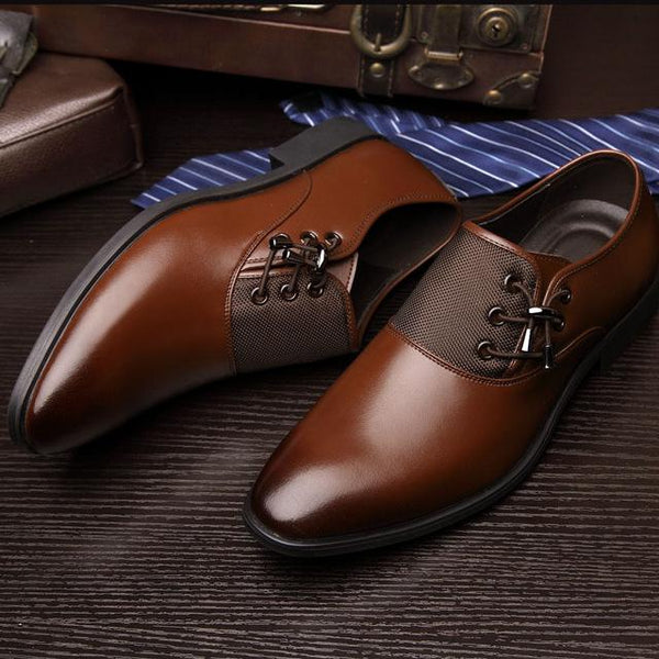 2019 Men Fashion Business Dress Formal Bullock Wedding Lace up Pointed toe Shoes