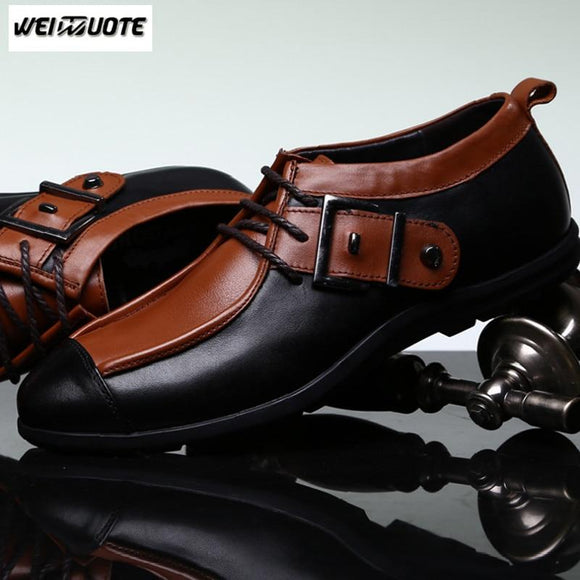 Shoes - Men's Fashion Pointed Toe Genuine Leather Shoes