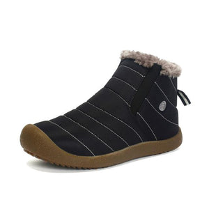 Shoes - Large Size Waterproof Fur Lined Slip On Boots