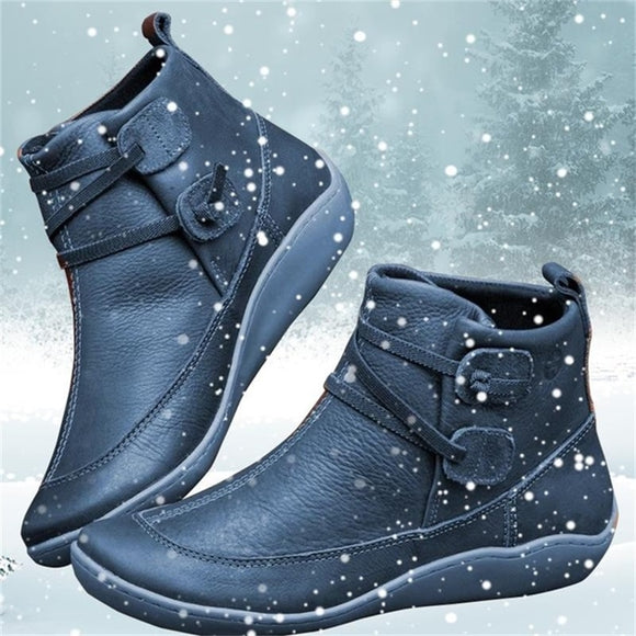Women Shoes - Leather Ankle Boots Winter Snow Boots(Buy 2 Get 10% off, 3 Get 15% off Now)