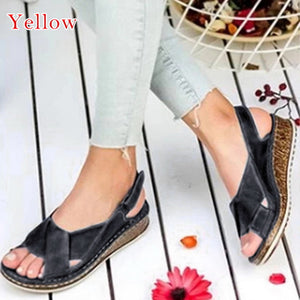 Jollmall Women Shoes - Woman Peep-toe Wedge Comfortable Sandals(Buy 2 Get 10% off, 3 Get 15% off Now)