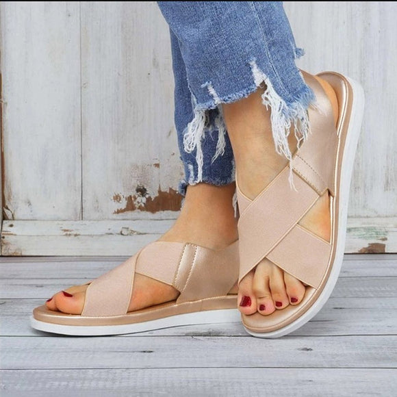 Jollmall Women Shoes - Comfy Slip On Elastic Textile Splicing Casual Beach Shoes(Buy 2 Get 10% off, 3 Get 15% off Now)