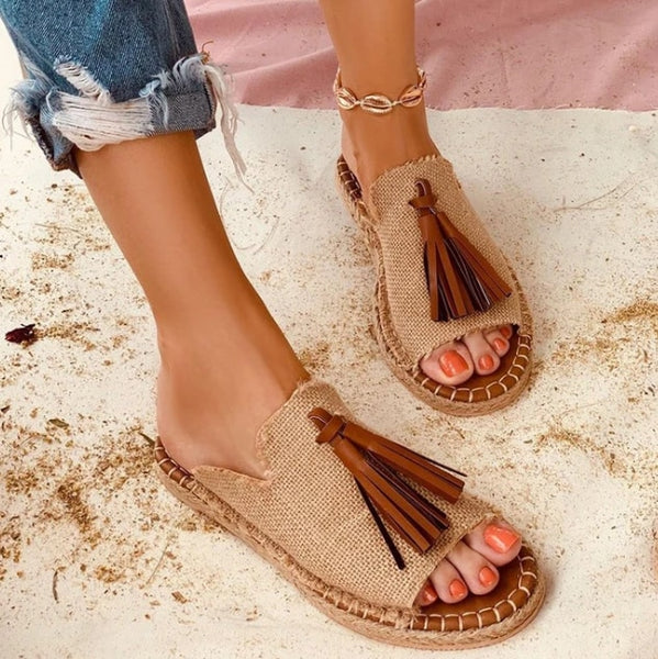 Jollmall Women Shoes - Leather Gladiator Luxury Summer Flat Sandal(Buy 2 Get 10% off, 3 Get 15% off Now)