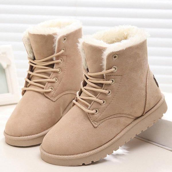 Lady's Warm Fur Ankle Boots