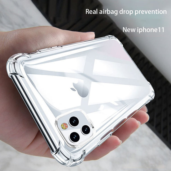 Jollmall Phone Case - Shockproof Transparent Soft Case For iPhone