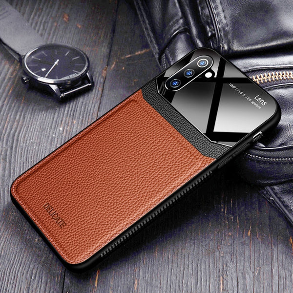 Jollmall Phone Case - Leather Mirror Plexiglass Case For Samsung Galaxy Note 10