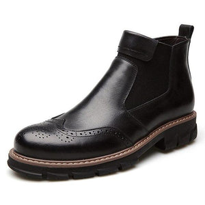 Men's Shoes - Winter Fur Leather Chelsea Boots