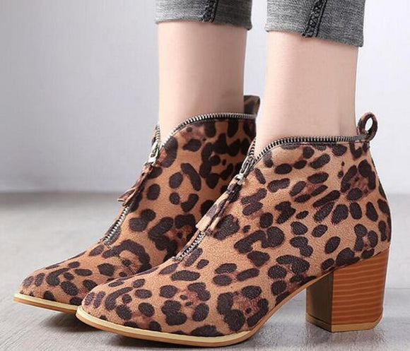 Shoes - 2018 Women's Pointed Toe Vintage Booties