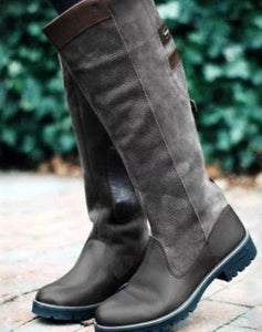New Women Fashion Vintage Leather Long Boots