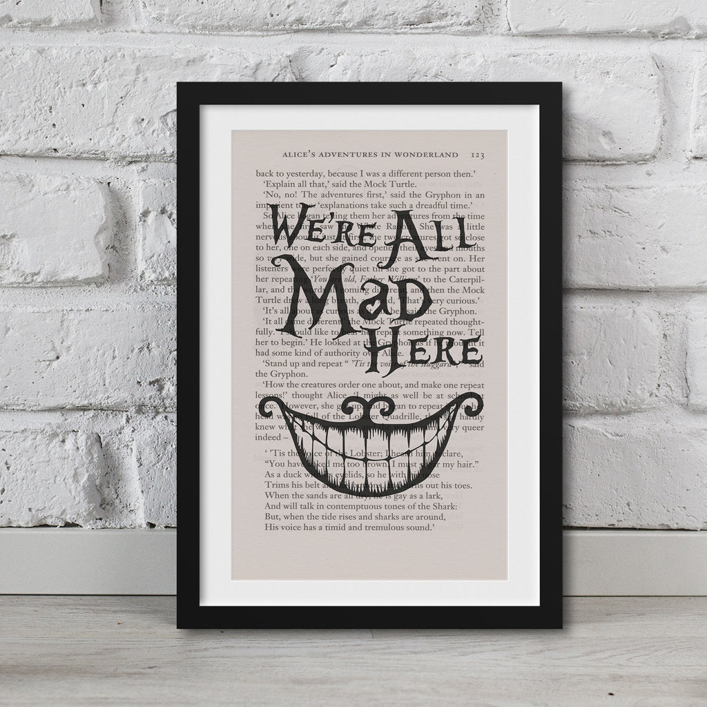 Alice in Wonderland Book Page Art Prints