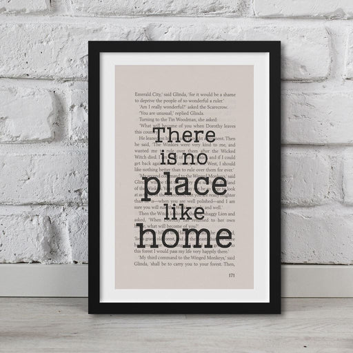 The Wonderful Wizard Of Oz Book Page Art There Is No Place Like Home Print