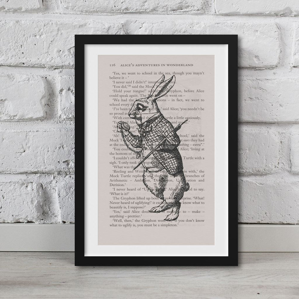 Alice In Wonderland Book Page Art The March Hare Print