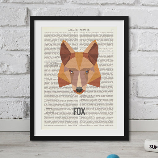 Abstract Fox Wall art