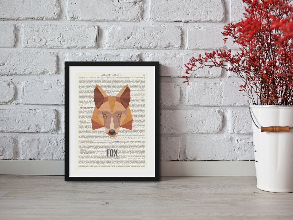 Abstract Fox book print