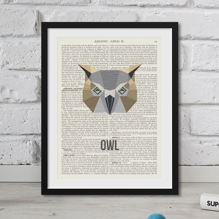 Abstract Owl Print