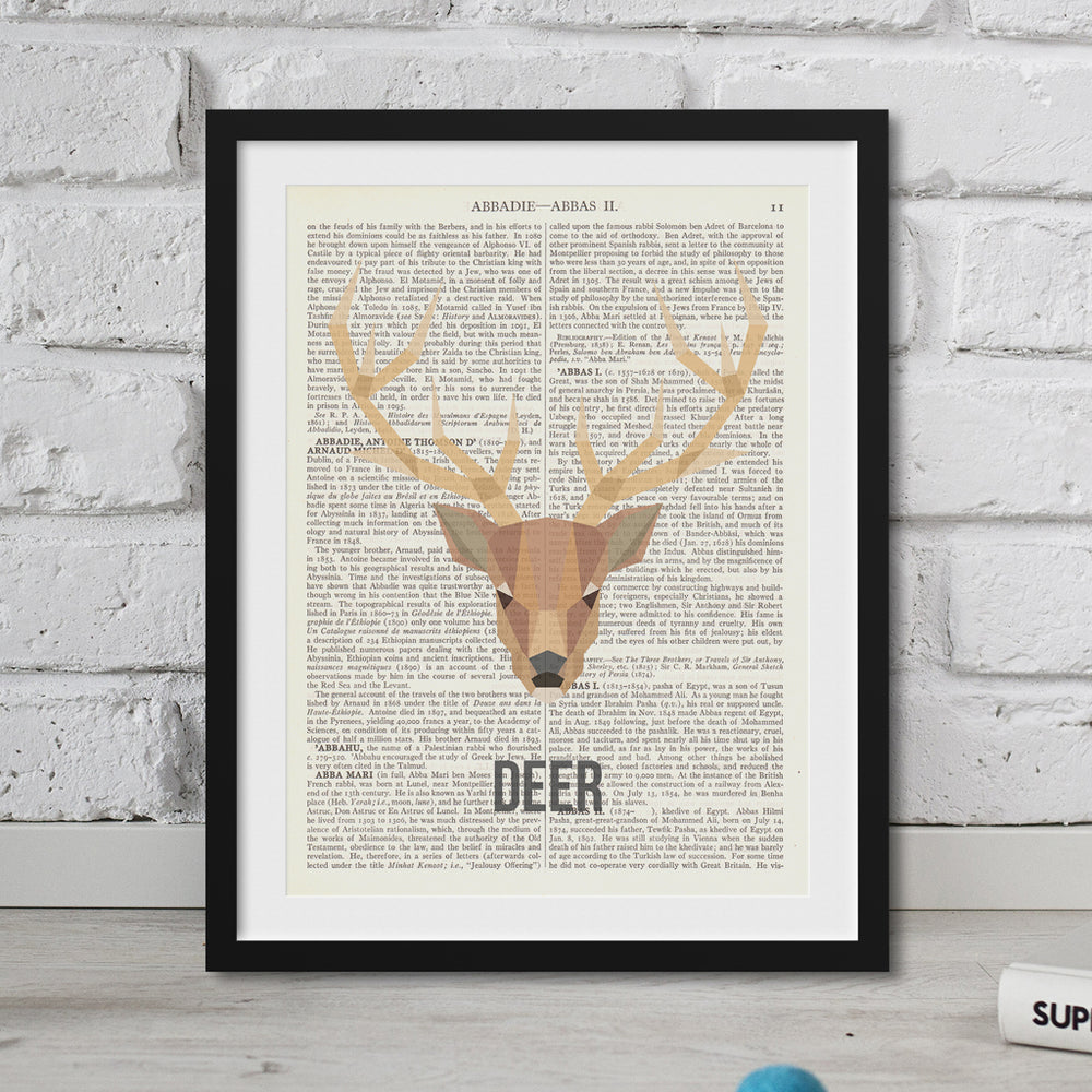 Abstract Deer Print