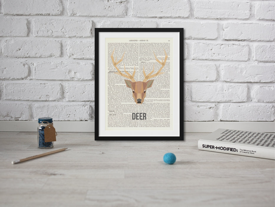 Abstract stag print