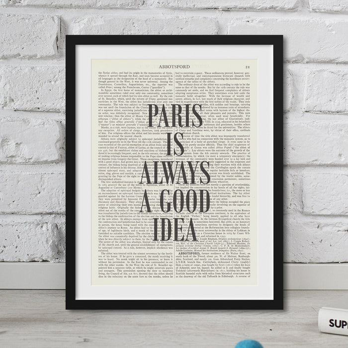Audrey Hepburn Quote Paris Is A Good Idea