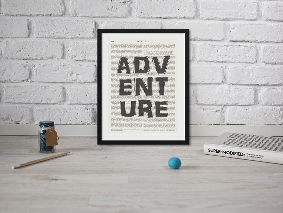 Adventure Quote Wall Art