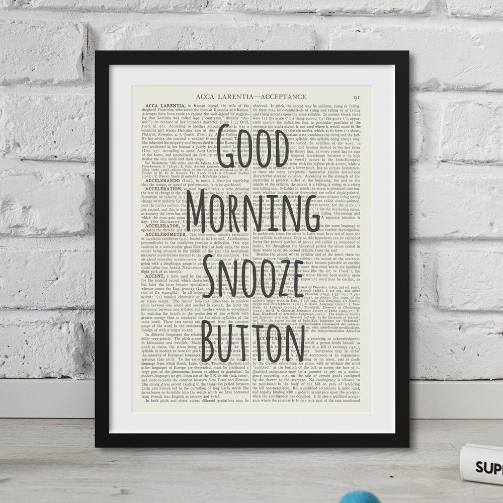 Good Morning Snooze Button