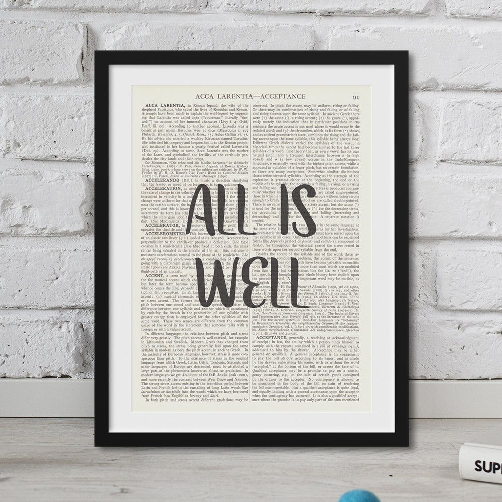 All Is Well Motivational Print