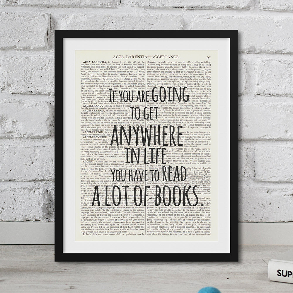 Roald Dahl Quote - Read a Lot of Books