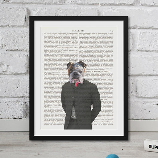 Bulldog Head Hipster Animal