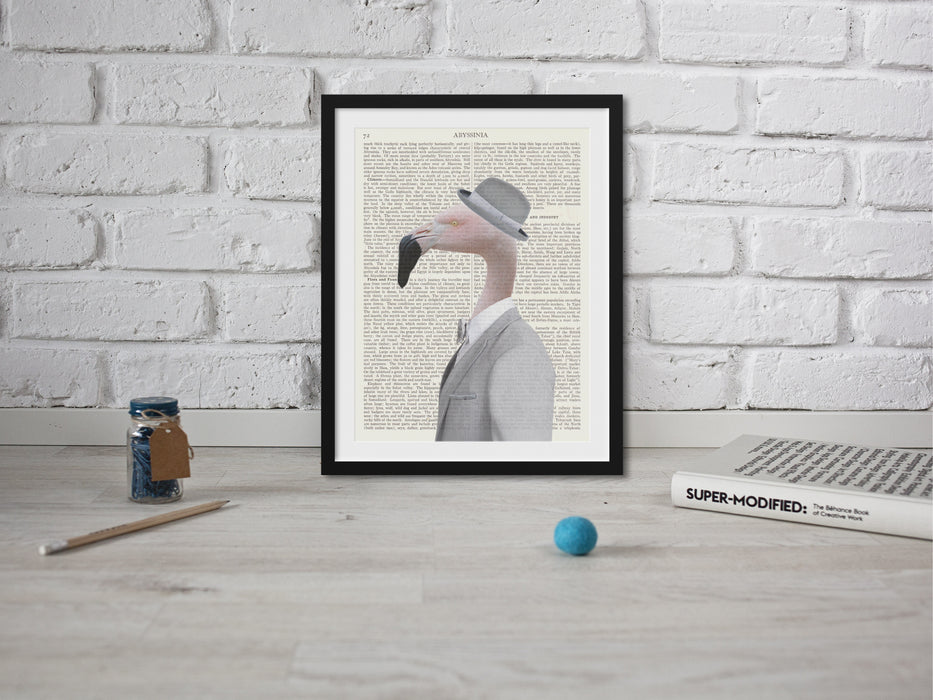 Flamingo suit Hipster Animal
